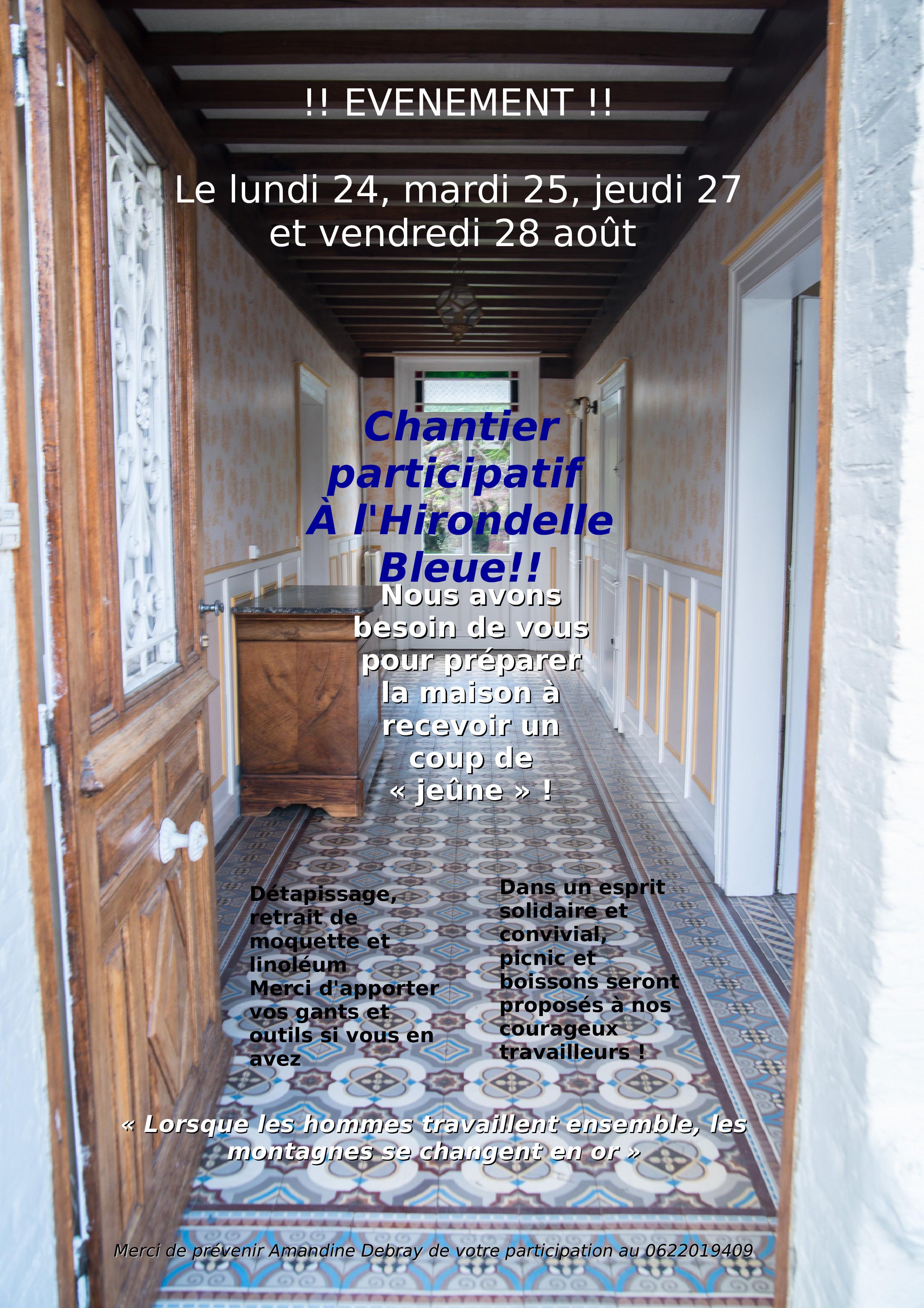 Lancement d'un chantier participatif !!
